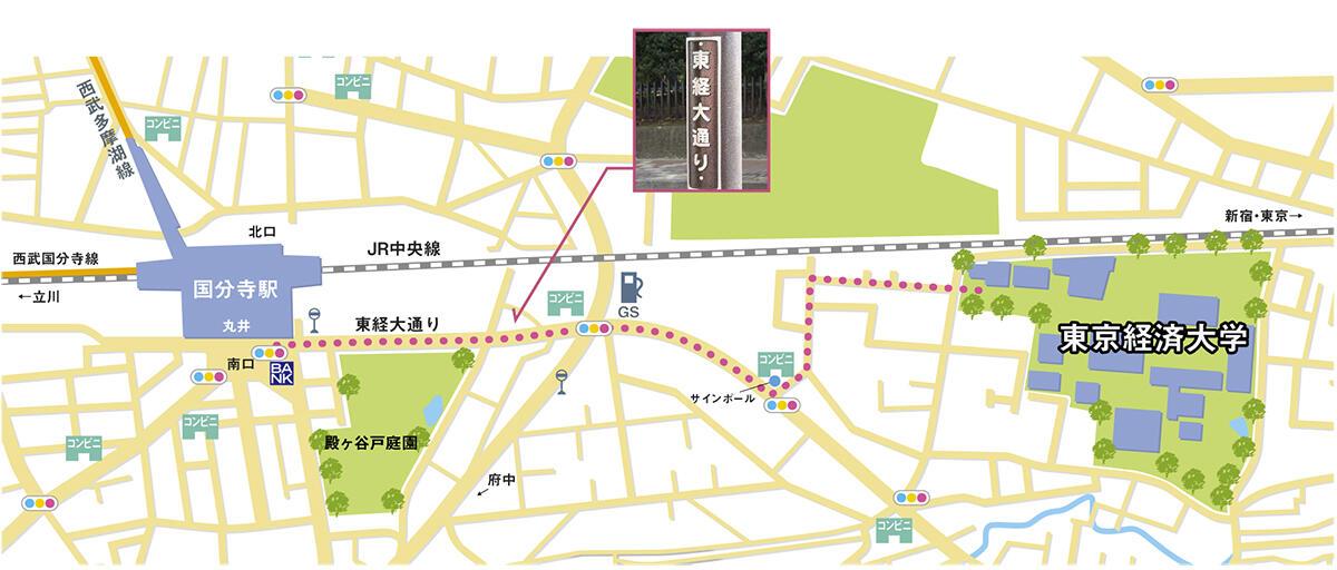 国分寺駅からのアクセス