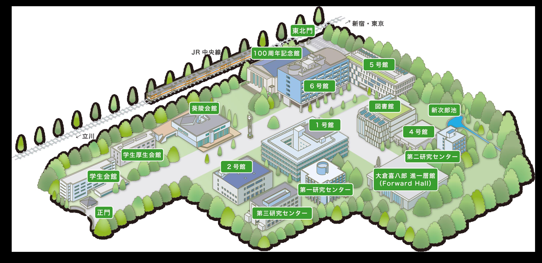 国分寺キャンパスマップ